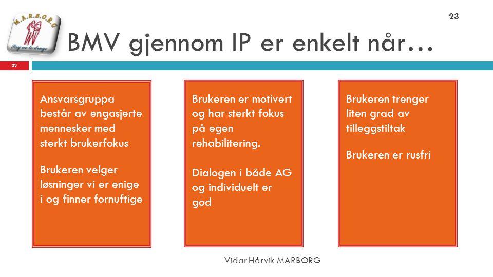 BMV gjennom IP er enkelt når…
