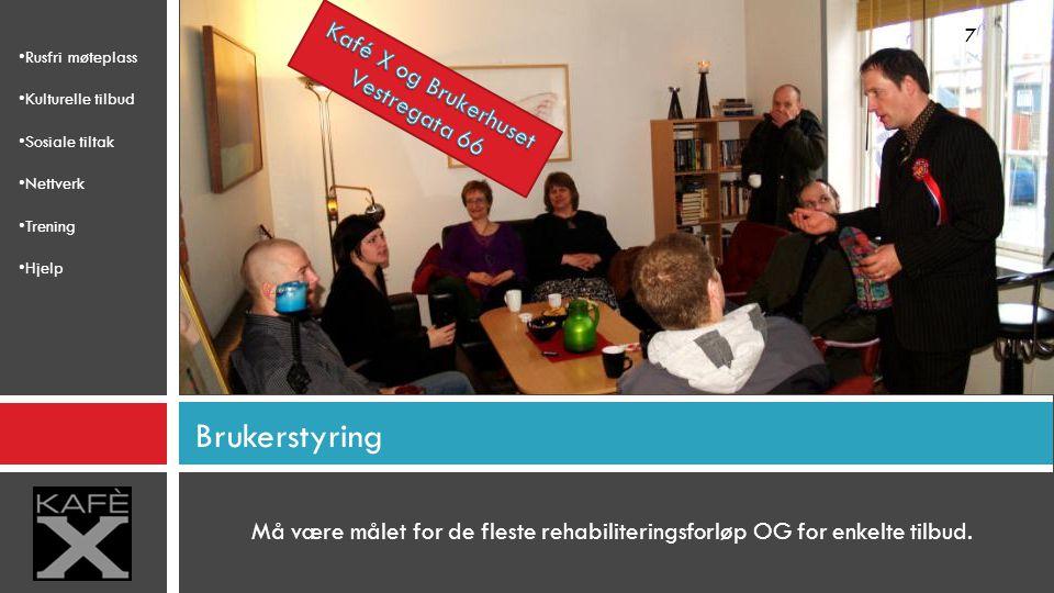 Brukerstyring Kafé X og Brukerhuset Vestregata 66