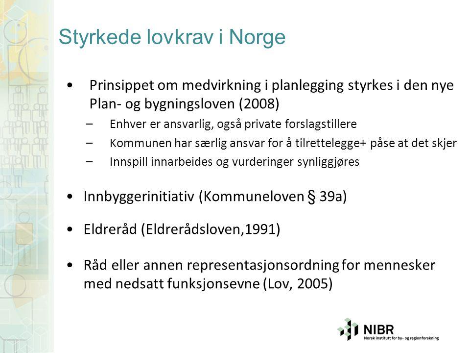 Styrkede lovkrav i Norge