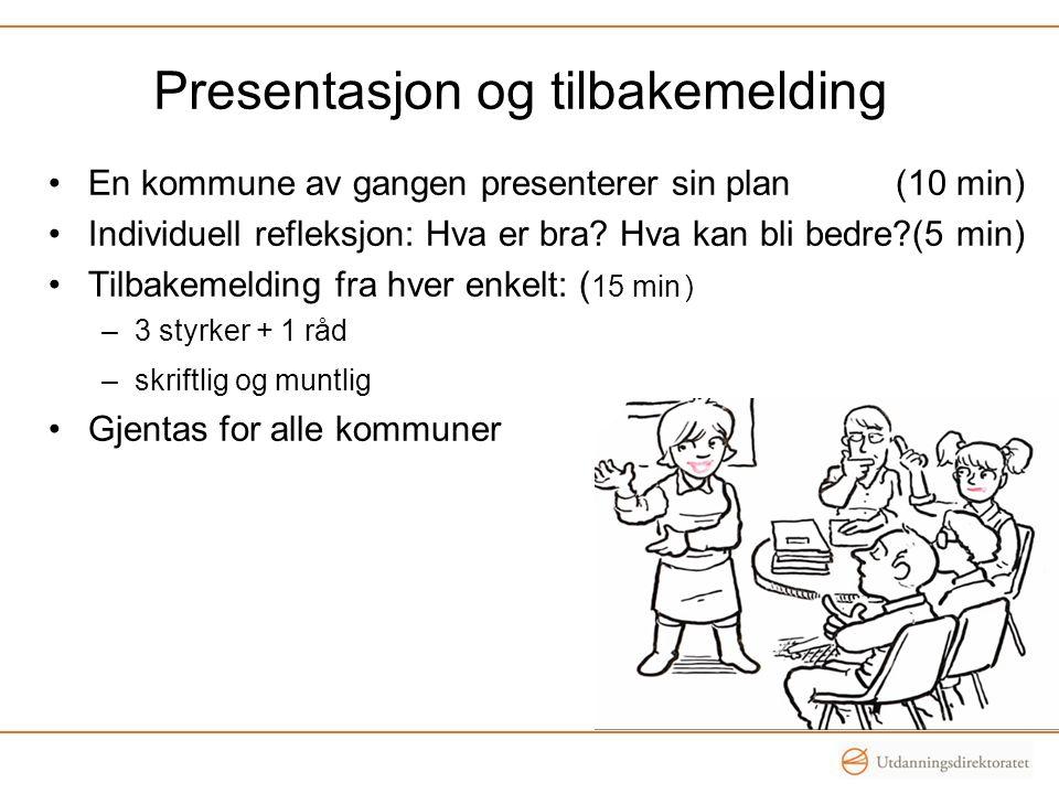 Presentasjon og tilbakemelding