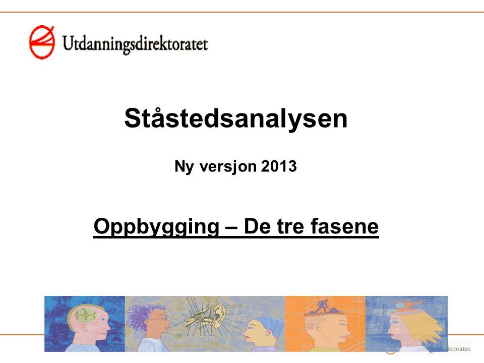 Ståstedsanalysen Ny versjon 2013