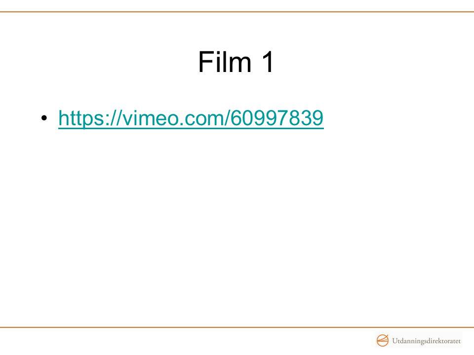 Film 1 https://vimeo.com/60997839