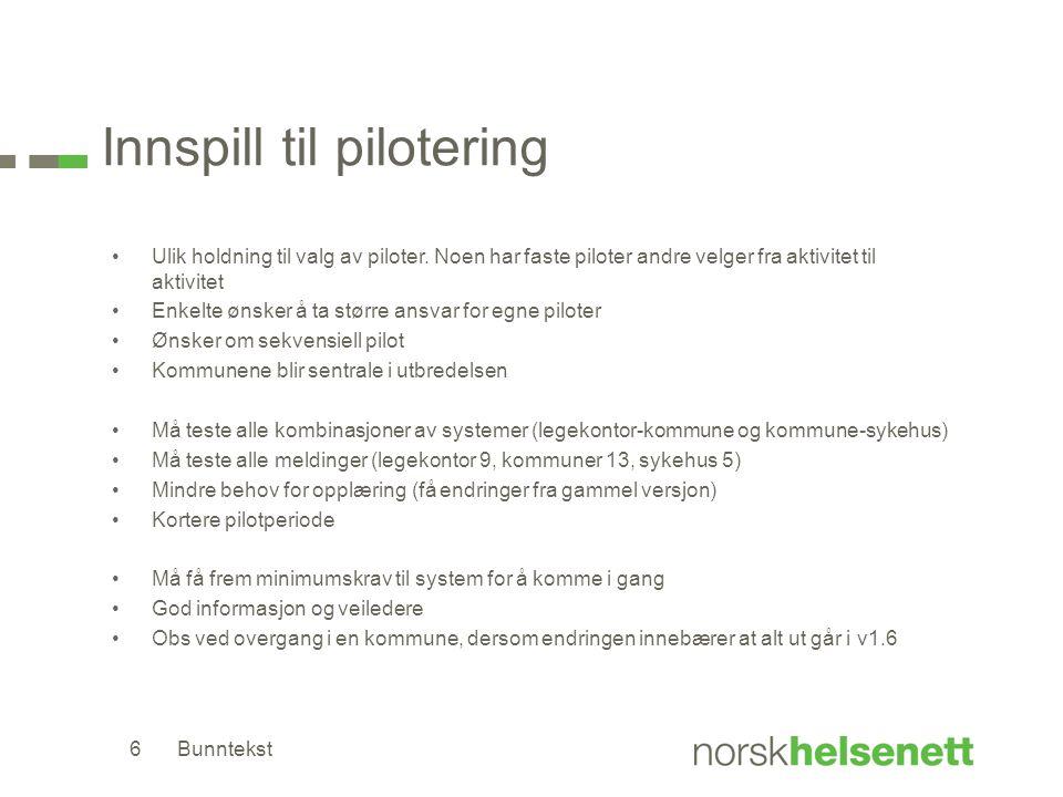 Innspill til pilotering