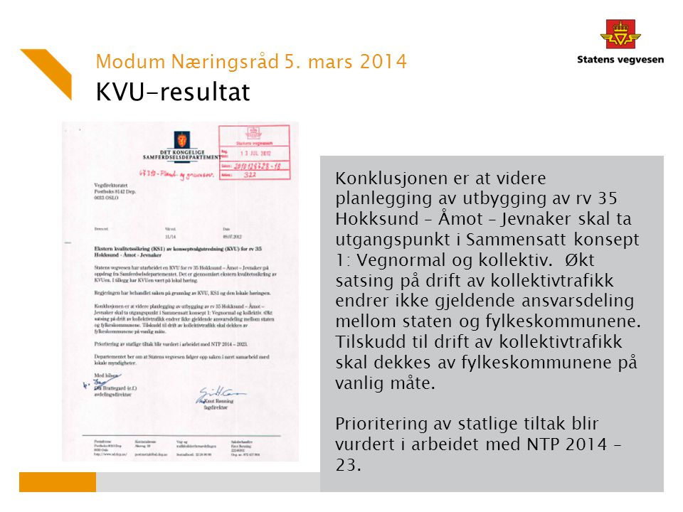 KVU-resultat Modum Næringsråd 5. mars 2014