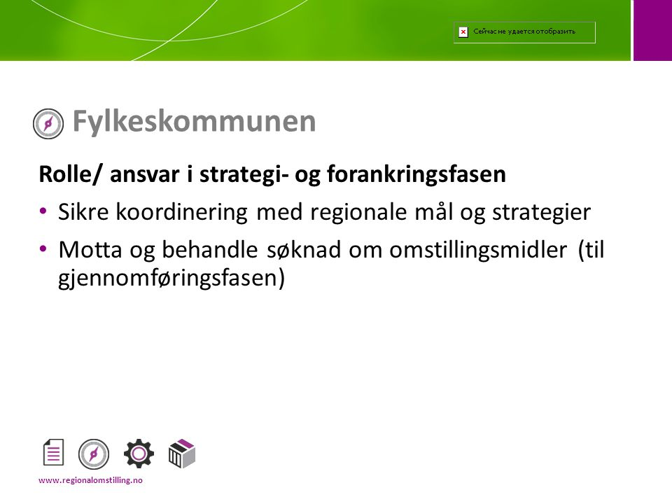 Fylkeskommunen Rolle/ ansvar i strategi- og forankringsfasen
