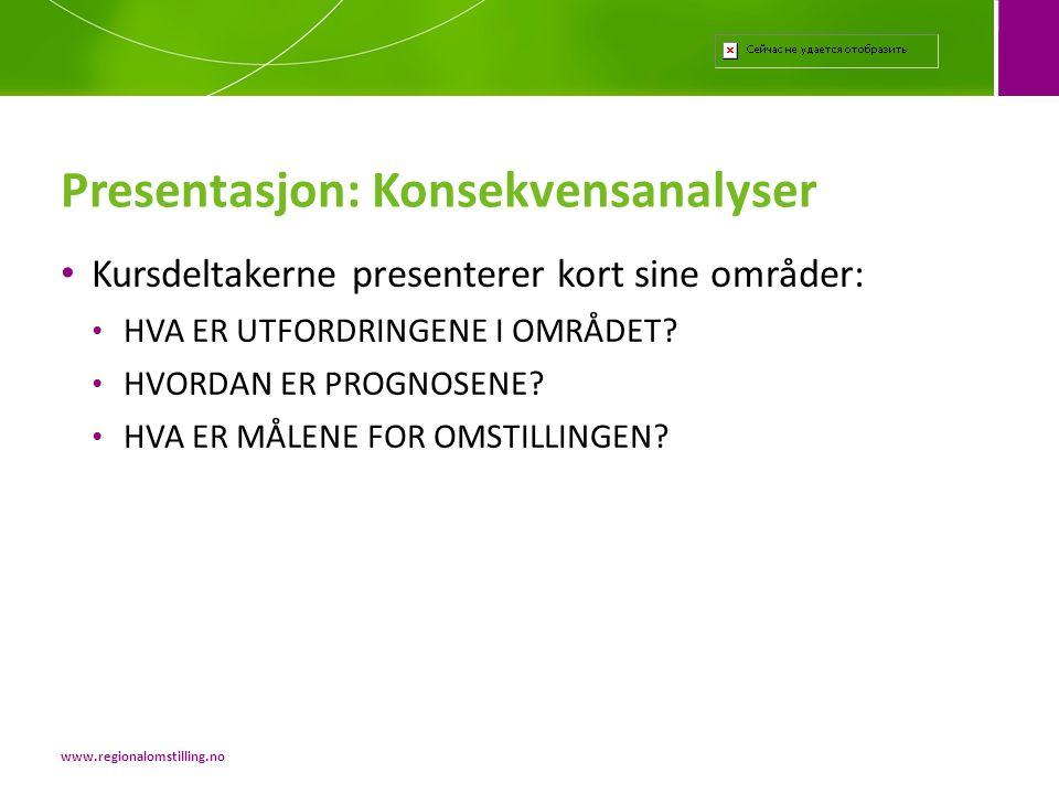 Presentasjon: Konsekvensanalyser