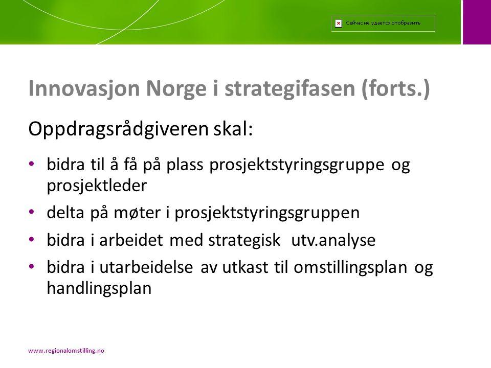 Innovasjon Norge i strategifasen (forts.)