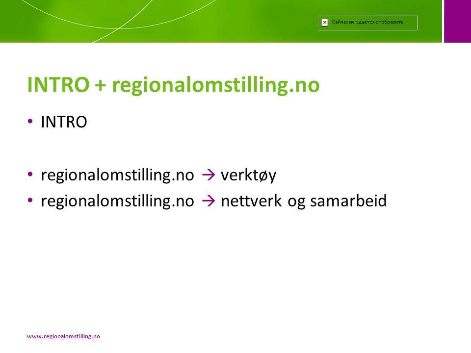 INTRO + regionalomstilling.no
