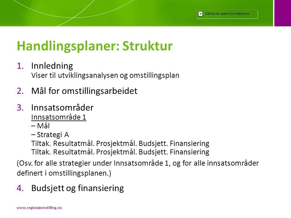 Handlingsplaner: Struktur