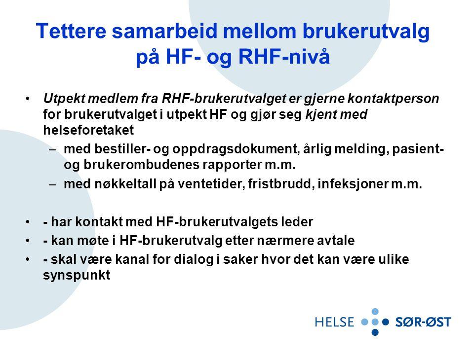 Tettere samarbeid mellom brukerutvalg på HF- og RHF-nivå