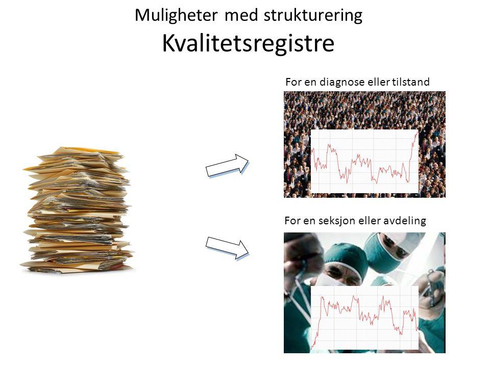 Muligheter med strukturering Kvalitetsregistre