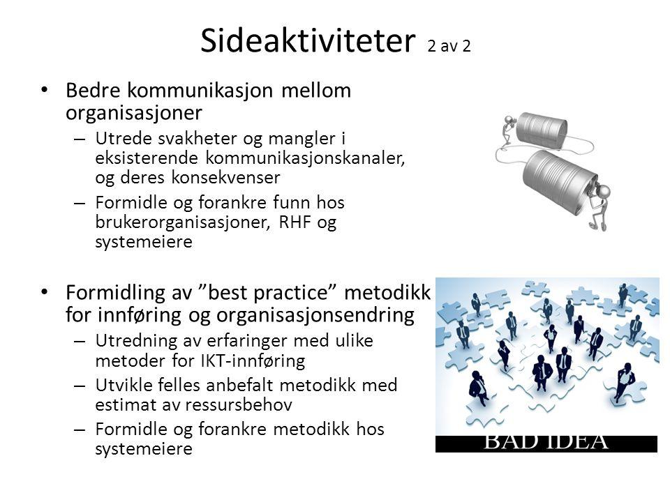 Sideaktiviteter 2 av 2 Bedre kommunikasjon mellom organisasjoner