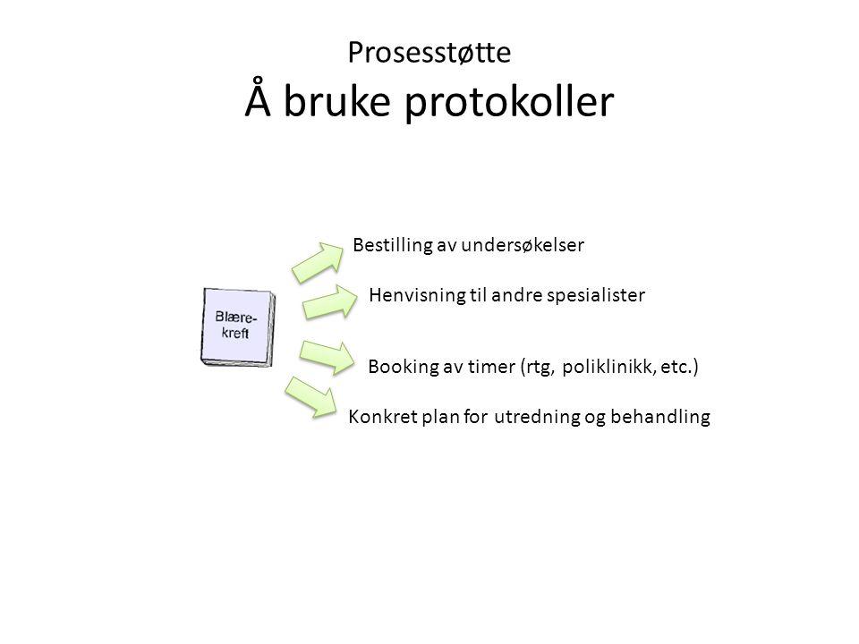 Prosesstøtte Å bruke protokoller
