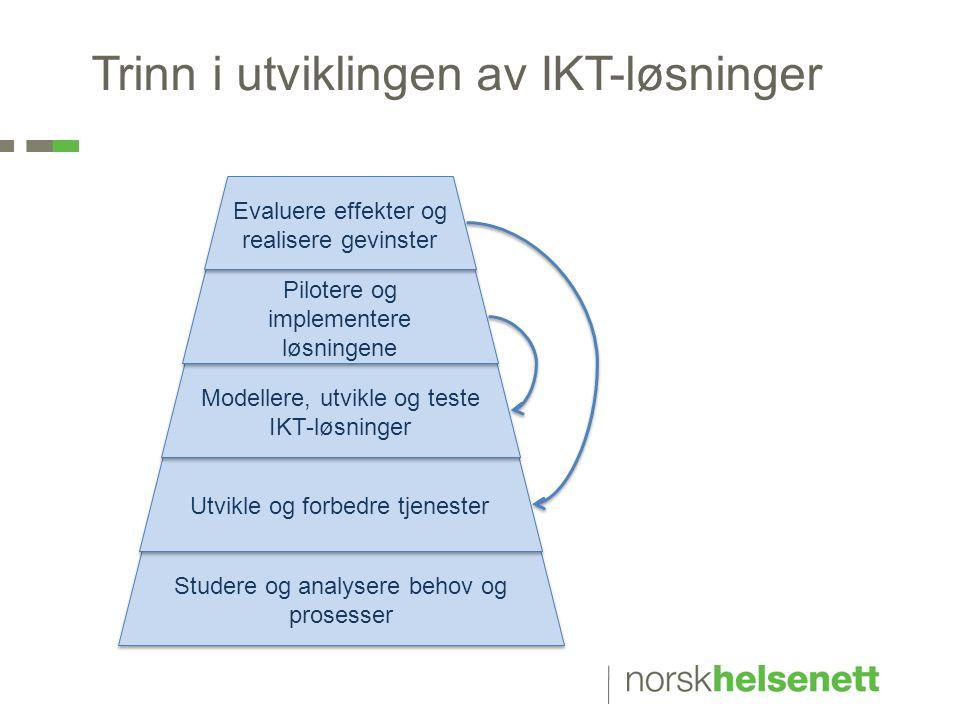 Trinn i utviklingen av IKT-løsninger