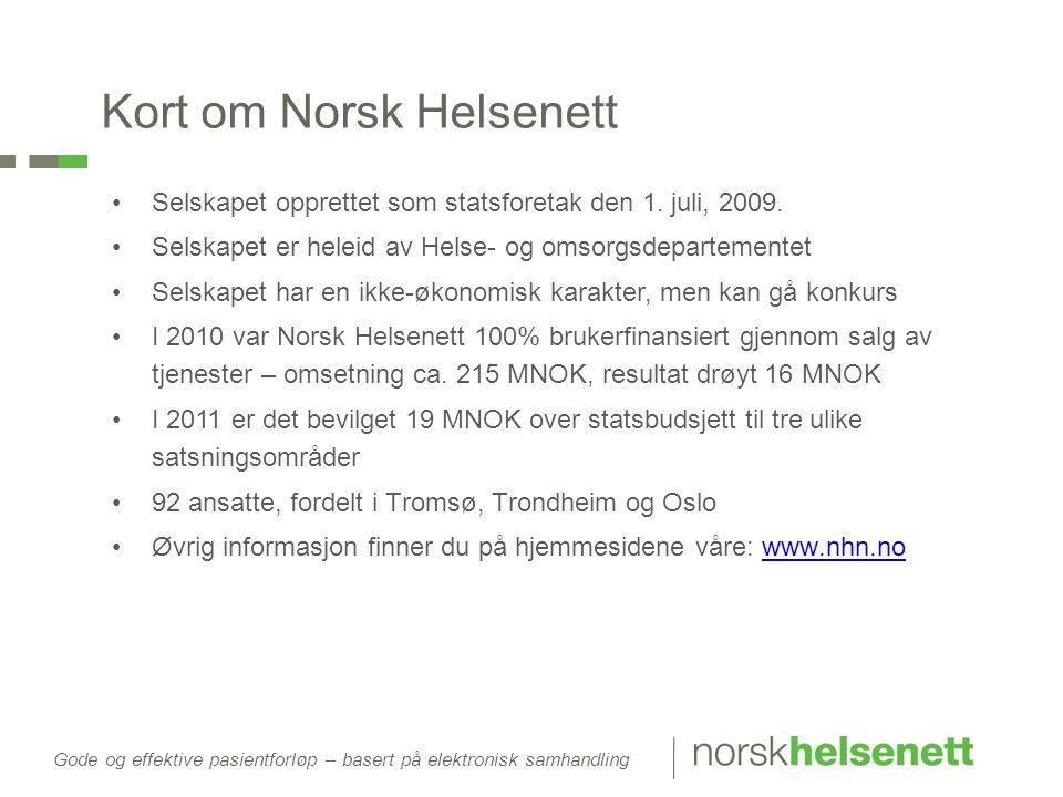 Kort om Norsk Helsenett
