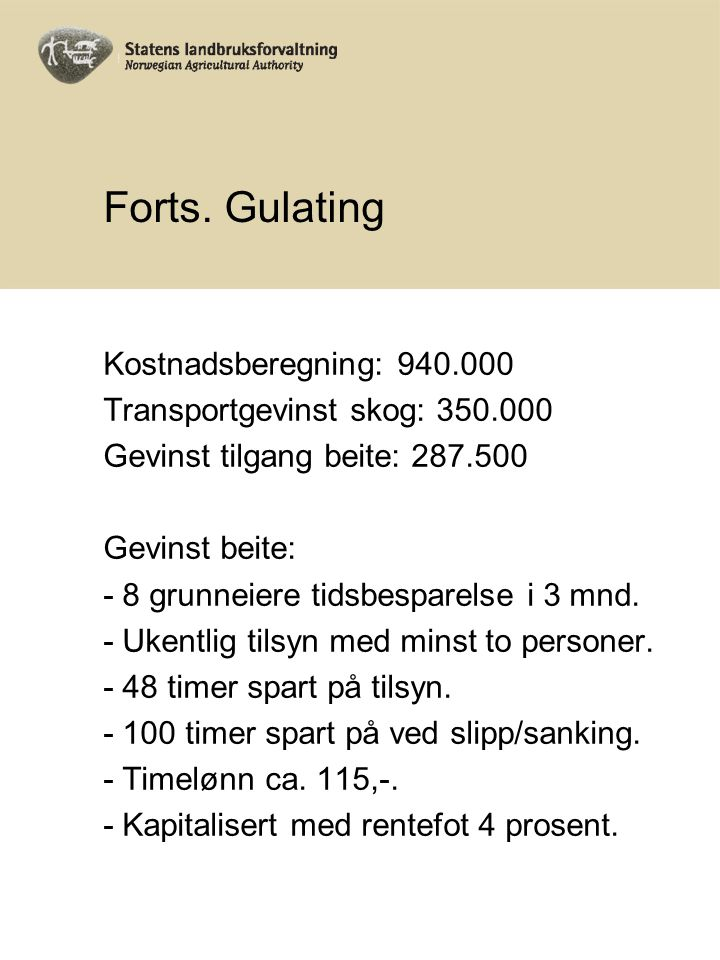 Forts. Gulating