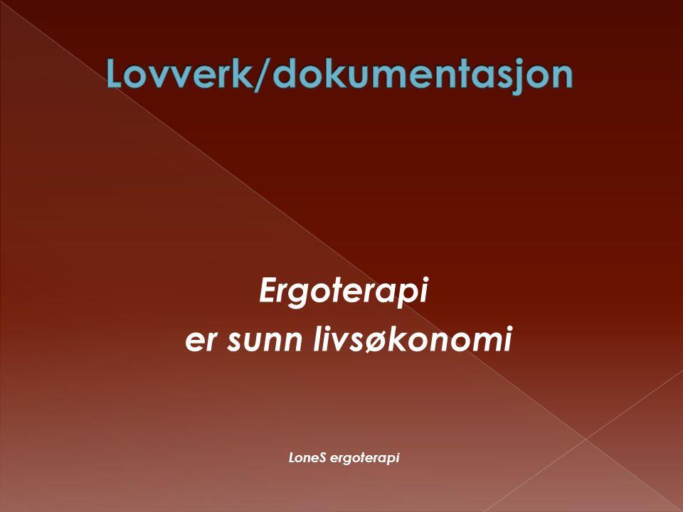 Lovverk/dokumentasjon
