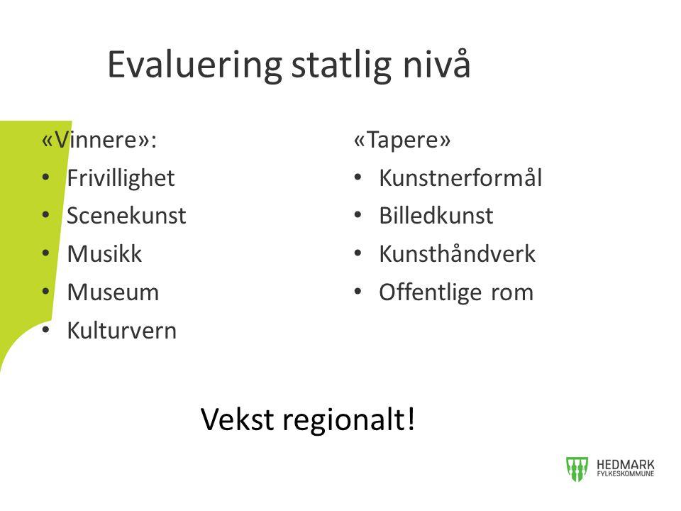 Evaluering statlig nivå