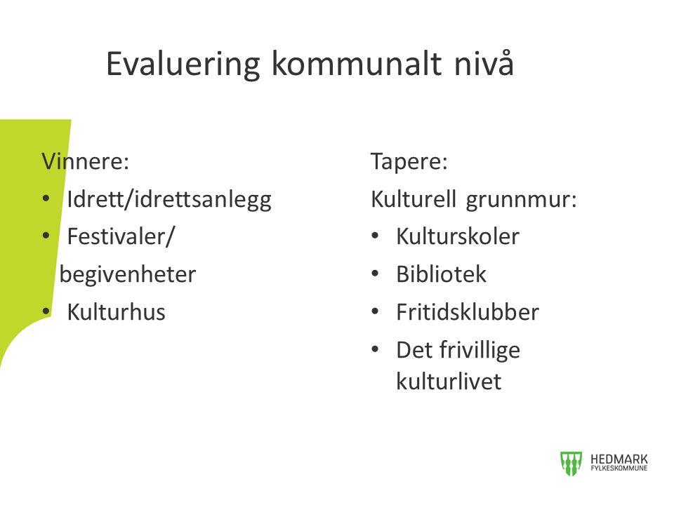 Evaluering kommunalt nivå