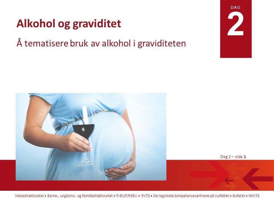 Å tematisere bruk av alkohol i graviditeten
