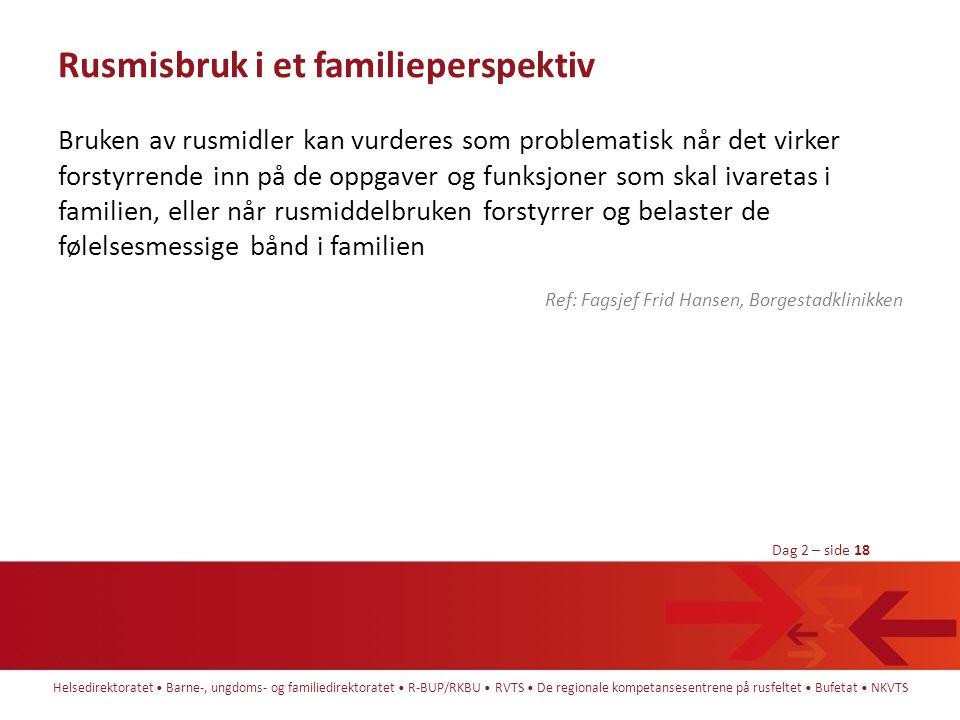 Rusmisbruk i et familieperspektiv