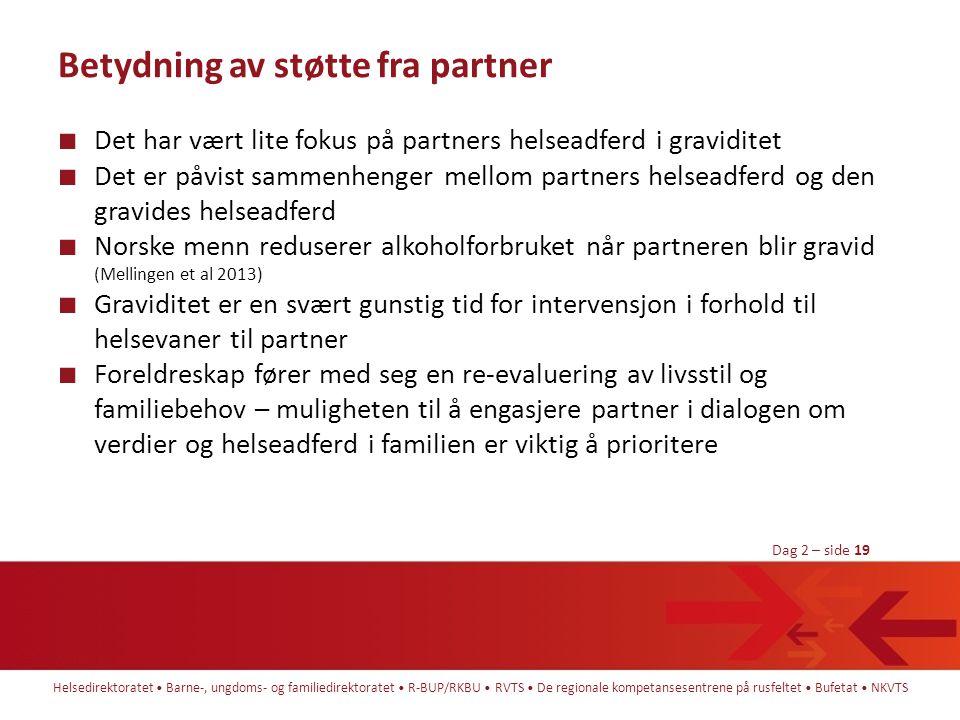 Betydning av støtte fra partner