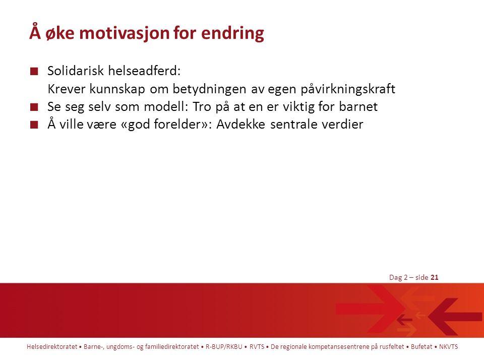 Å øke motivasjon for endring