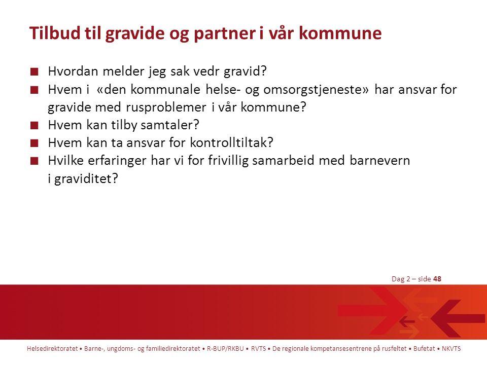 Tilbud til gravide og partner i vår kommune