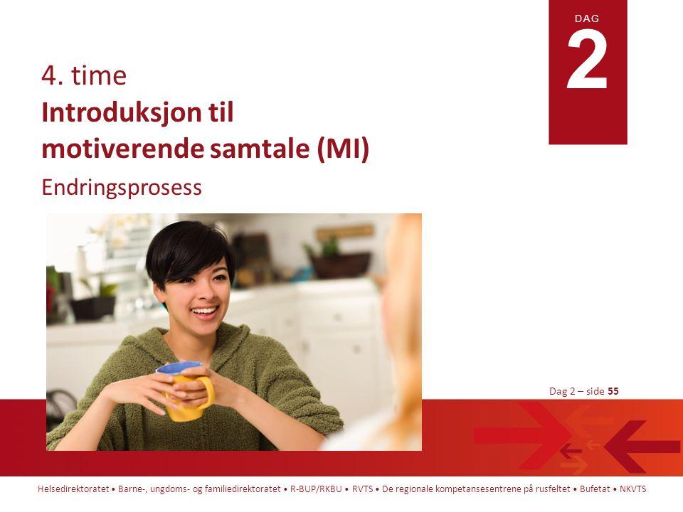 Introduksjon til motiverende samtale (MI)