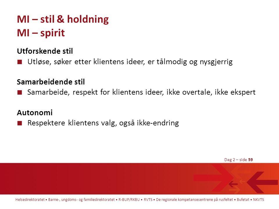 MI – stil & holdning MI – spirit