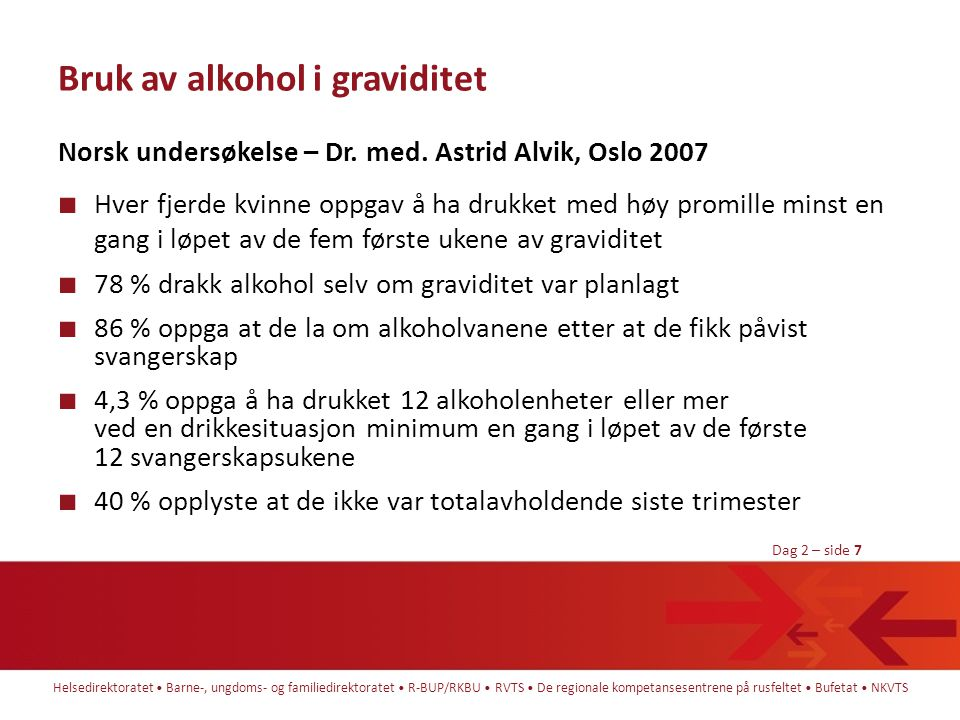 Bruk av alkohol i graviditet