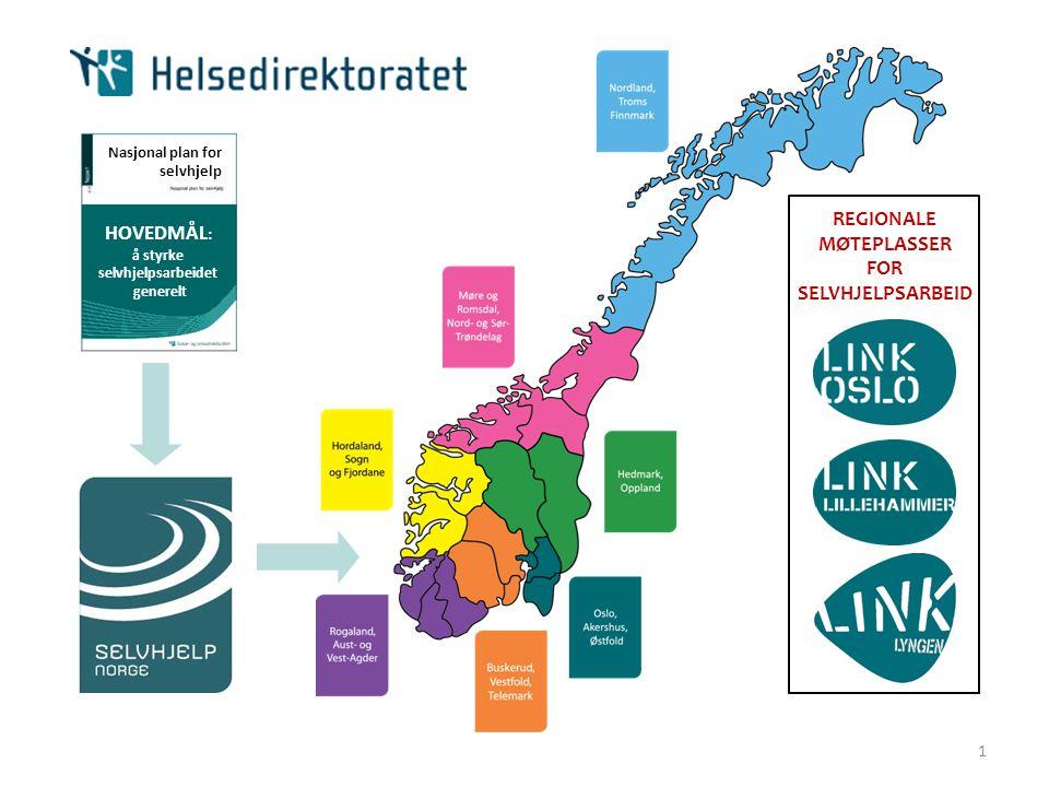 REGIONALE MØTEPLASSER HOVEDMÅL: FOR SELVHJELPSARBEID 1
