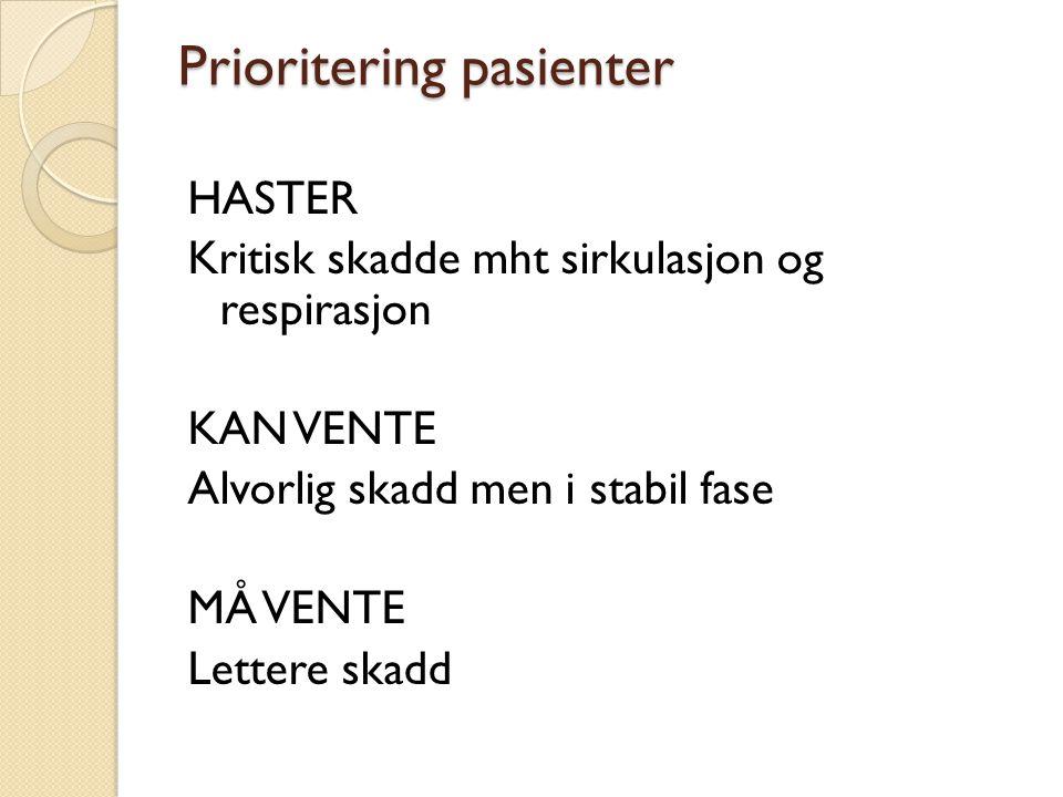 Prioritering pasienter