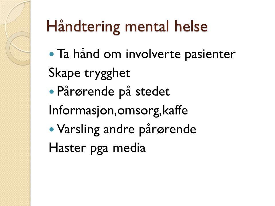 Håndtering mental helse
