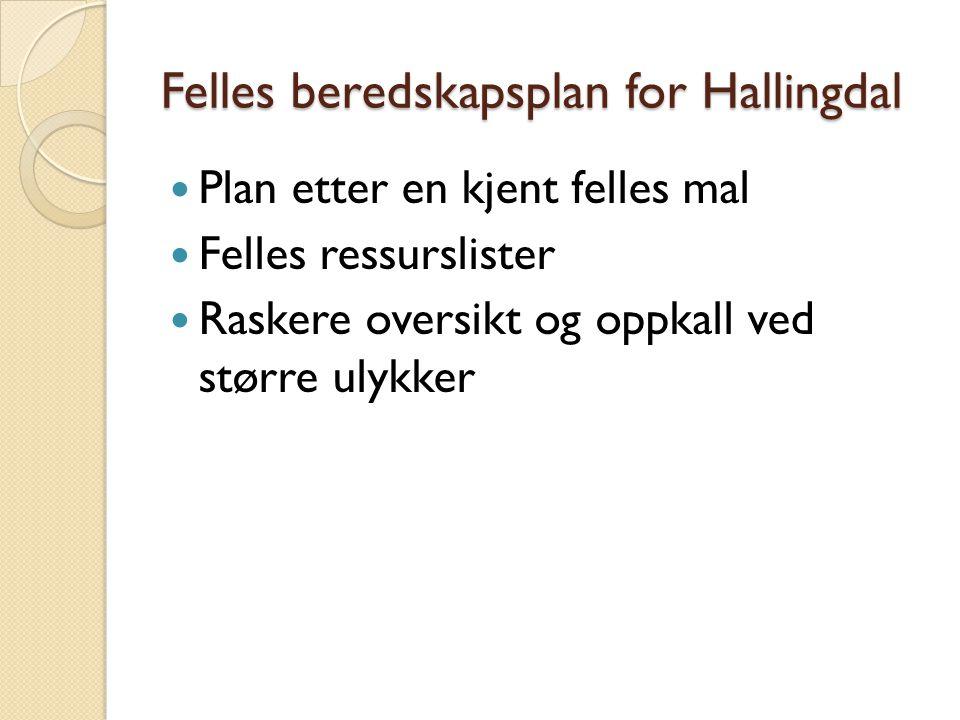 Felles beredskapsplan for Hallingdal