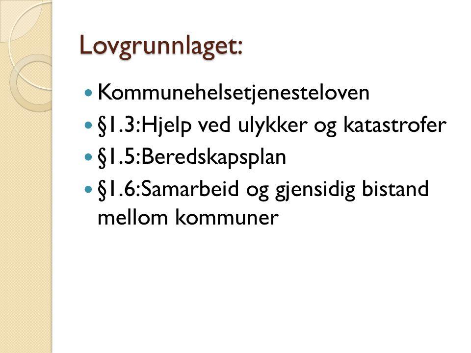 Lovgrunnlaget: Kommunehelsetjenesteloven