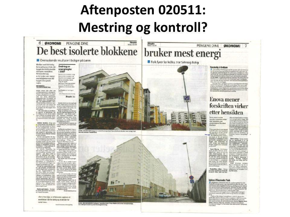 Aftenposten 020511: Mestring og kontroll