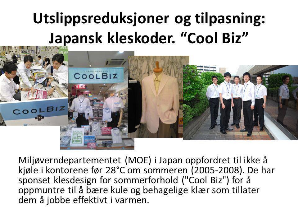 Utslippsreduksjoner og tilpasning: Japansk kleskoder. Cool Biz