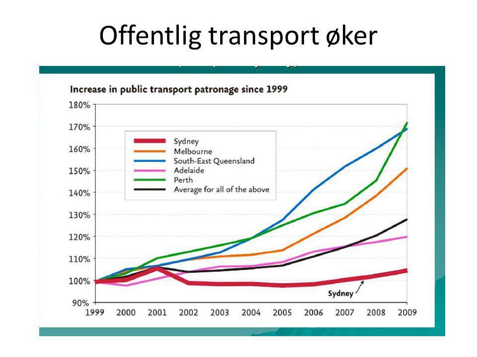 Offentlig transport øker