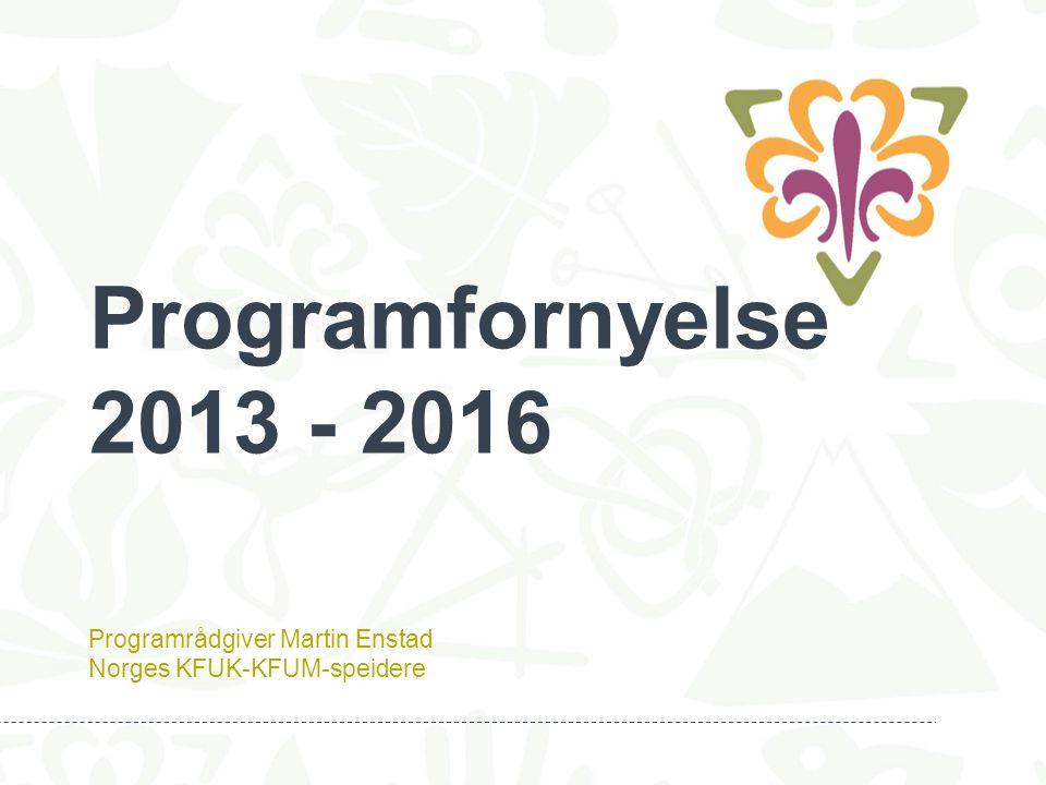 Programrådgiver Martin Enstad Norges KFUK-KFUM-speidere