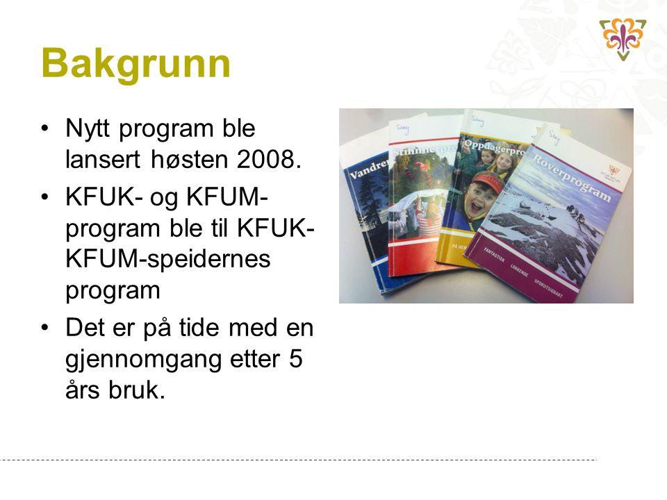 Bakgrunn Nytt program ble lansert høsten 2008.