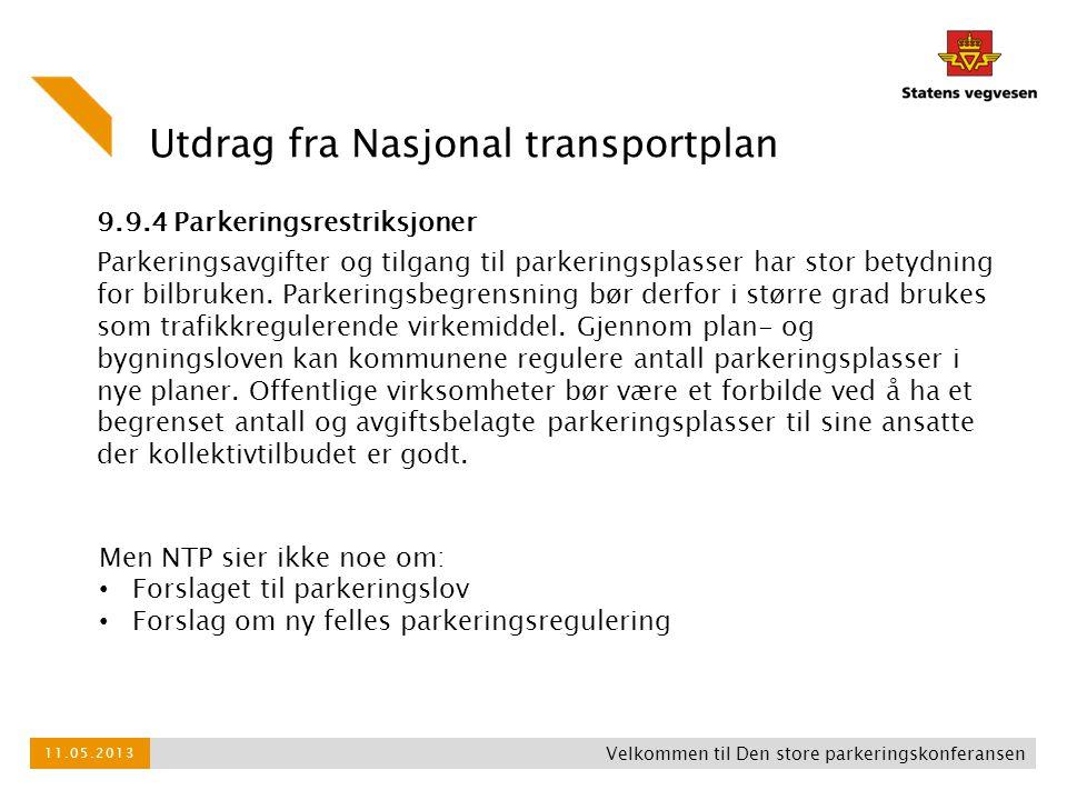Utdrag fra Nasjonal transportplan