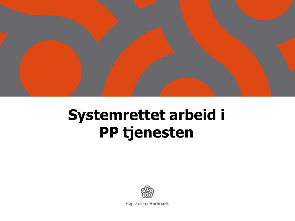 Systemrettet arbeid i PP tjenesten