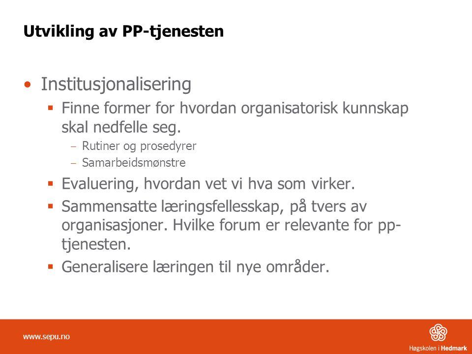 Utvikling av PP-tjenesten