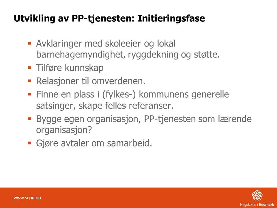 Utvikling av PP-tjenesten: Initieringsfase
