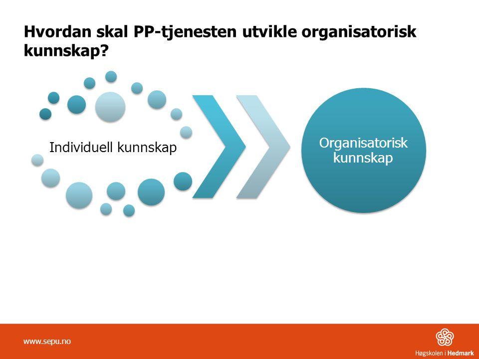 Hvordan skal PP-tjenesten utvikle organisatorisk kunnskap