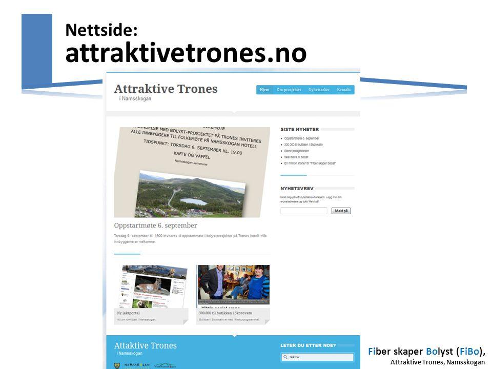 Nettside: attraktivetrones.no