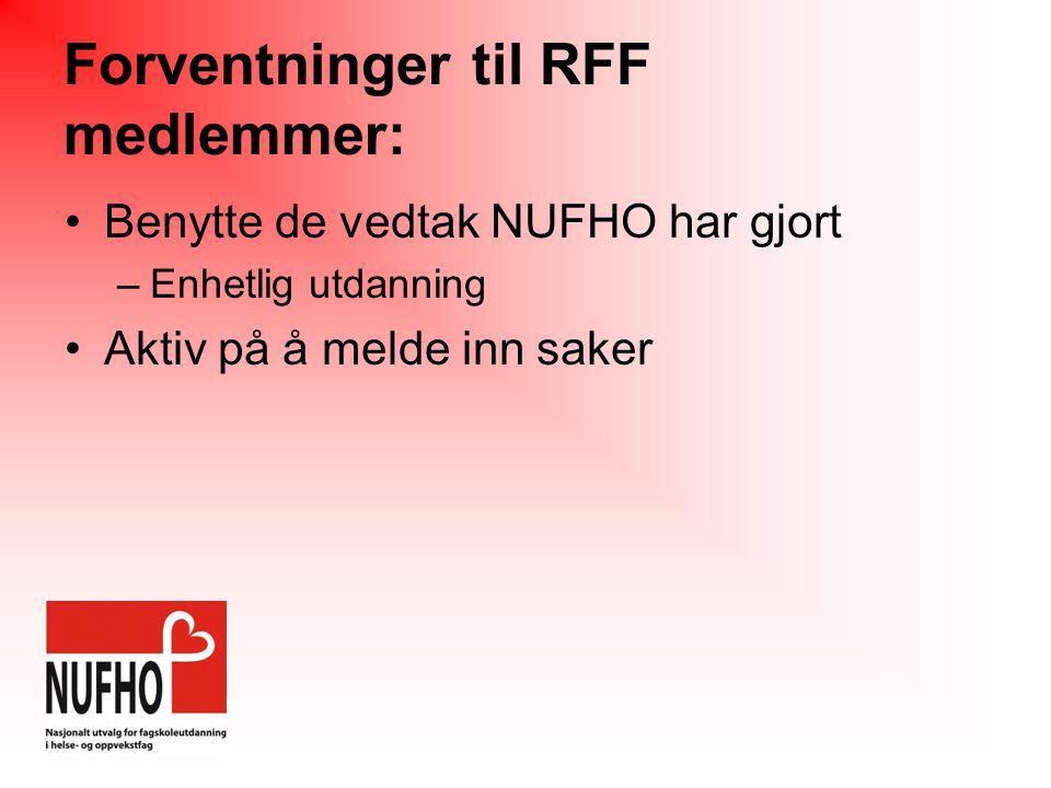 Forventninger til RFF medlemmer:
