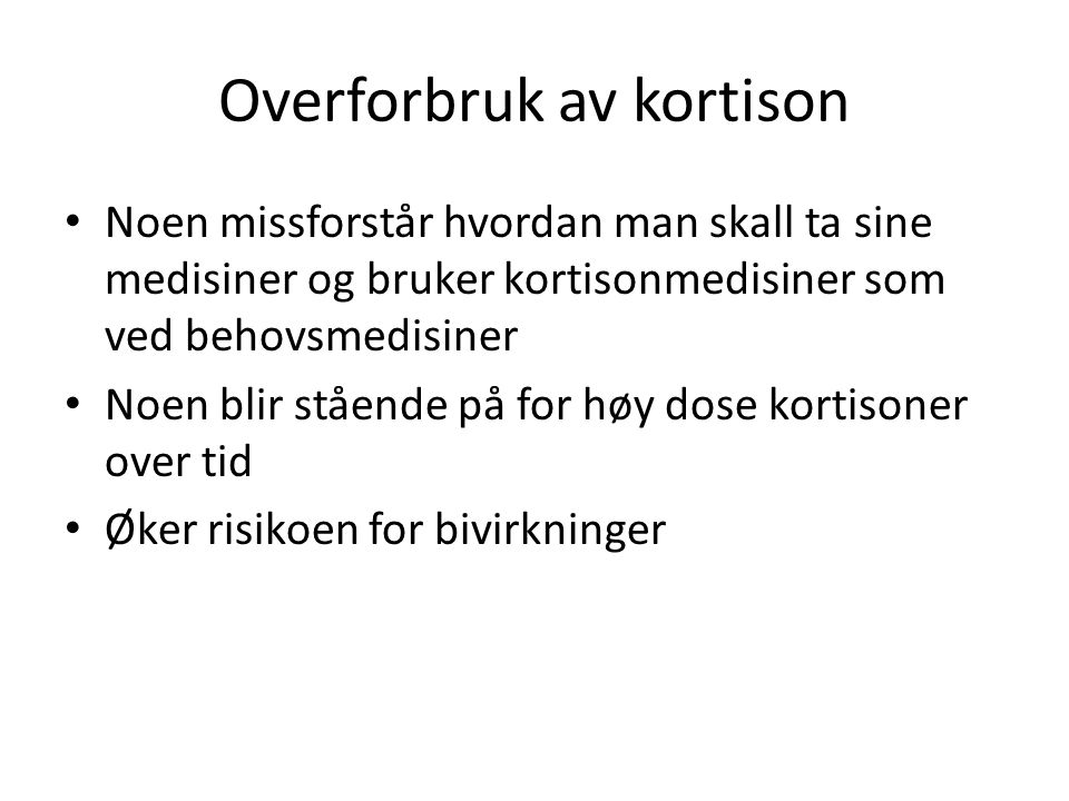 Overforbruk av kortison