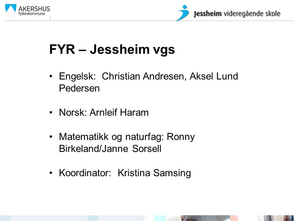 Jessheim videregående skole ved John Arve Eide og Kristina Samsing
